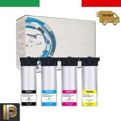 4 Cartucce Epson T9451-53 Nero + Colore Compatibile