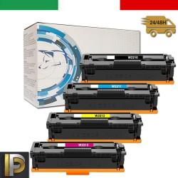 4 Toner HP W2210-3A Nero + Colore NO CHIP Compatibile