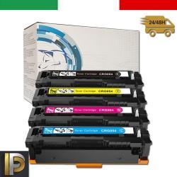 4 Toner Canon CRG-054H Nero + Colore Compatibile
