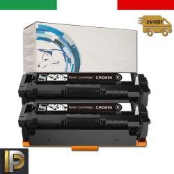 2 Toner Canon CRG-054H-BK Nero Compatibile