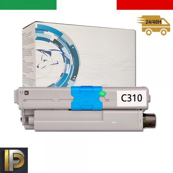 Toner Oki  OKI-C310-BK  Nero Compatibile