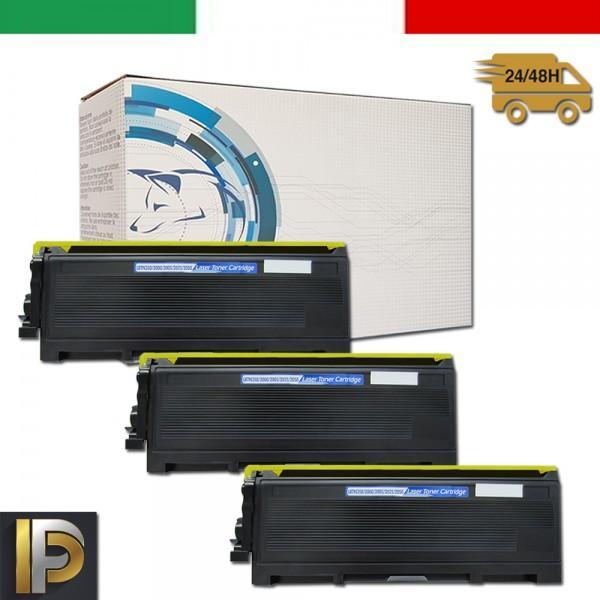 3 Toner TN-2000 Compatibili per Brother