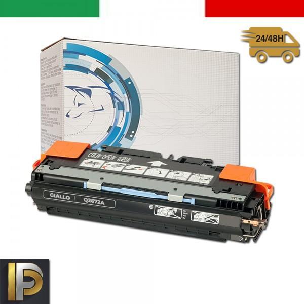 Toner Hp Laserjet Color Q2672A Giallo Compatibile