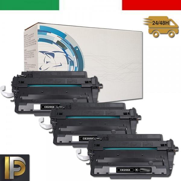 3 Toner Hp Laserjet  CE255X   Compatibili