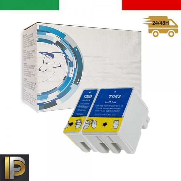 10 Cartucce Epson Stylus  T050-T052   Compatibile