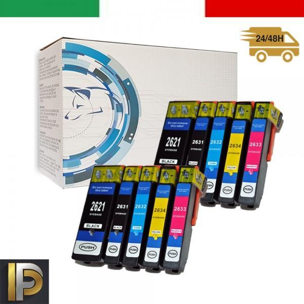 10 Cartucce Epson  T26   Compatibili