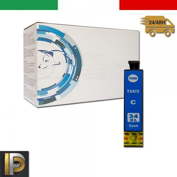 Cartuccia Epson  T3472 Ciano Compatibile