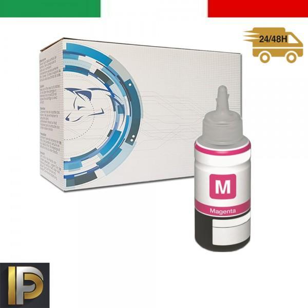 Inchiostro Magenta T6643M Compatibile Per ECOTANK  T6643 Magenta Compatibile