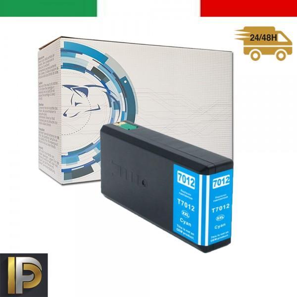 Cartuccia Epson WorkForce  T7012-CIANO Ciano Compatibile