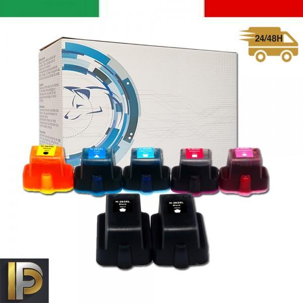 7 Cartucce HP Photosmart  363XL   Compatibile