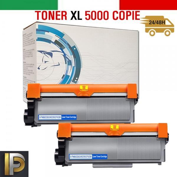 2 Toner Brother  TN-2320XL   Nero Compatibile