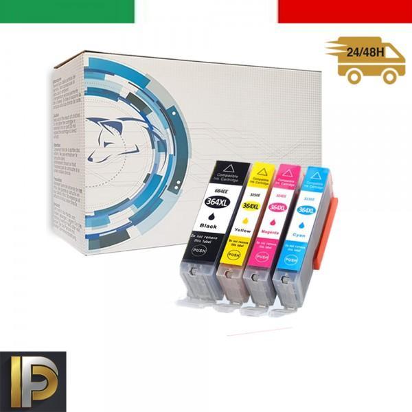 4 Cartucce HP Photosmart  364XL   con CHIP Compatibile