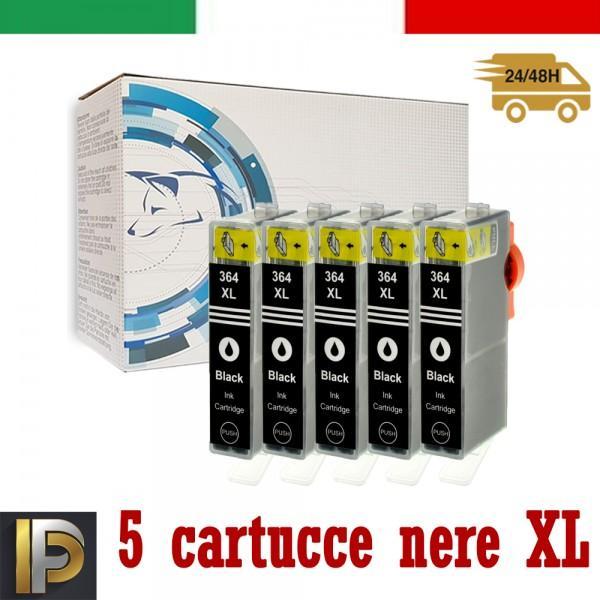 Cartuccia HP  364XL-BK -SET5 con CHIP Compatibile