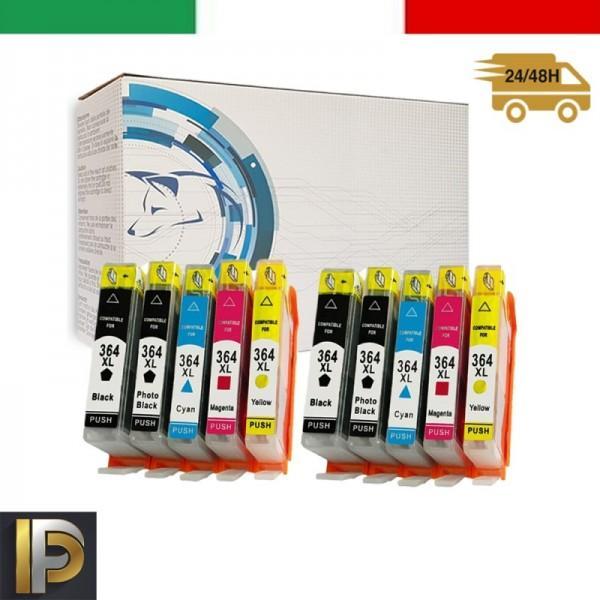 10 Cartucce HP  364XL   con CHIP Compatibile