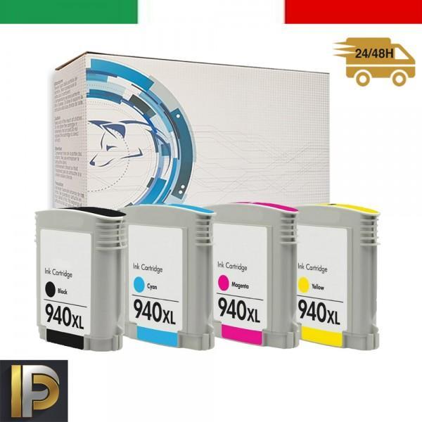 4 Cartucce HP HP Officejet Pro 940XL  con CHIP Compatibile