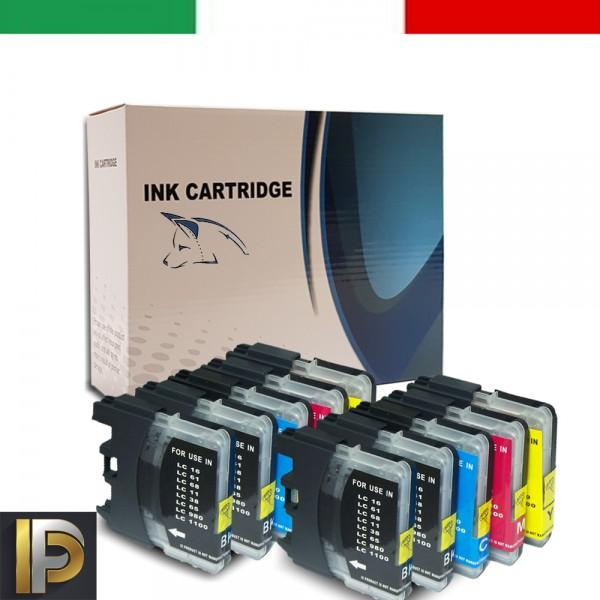 10 Cartucce Brother  LC-980-1100   Compatibile