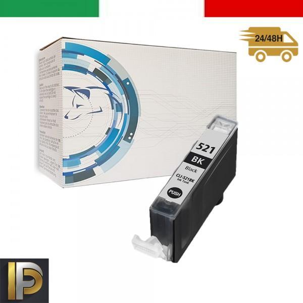 Cartucce Canon Pixma  CLI-521-BK Nero Compatibile