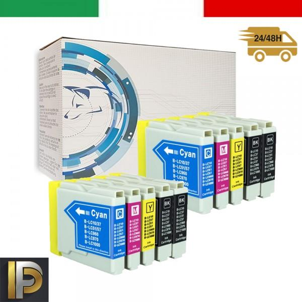 10 Cartucce Brother  LC-1000   Compatibile