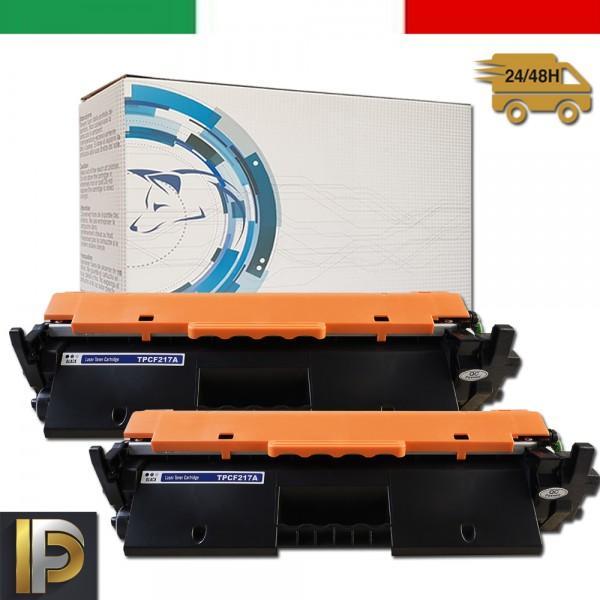 2 Toner HP  Laserjet PRO CF217A 17A Nero Compatibile
