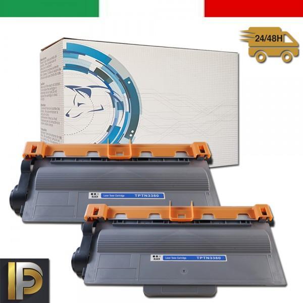 2 Toner Brother TN-3380 Compatibile